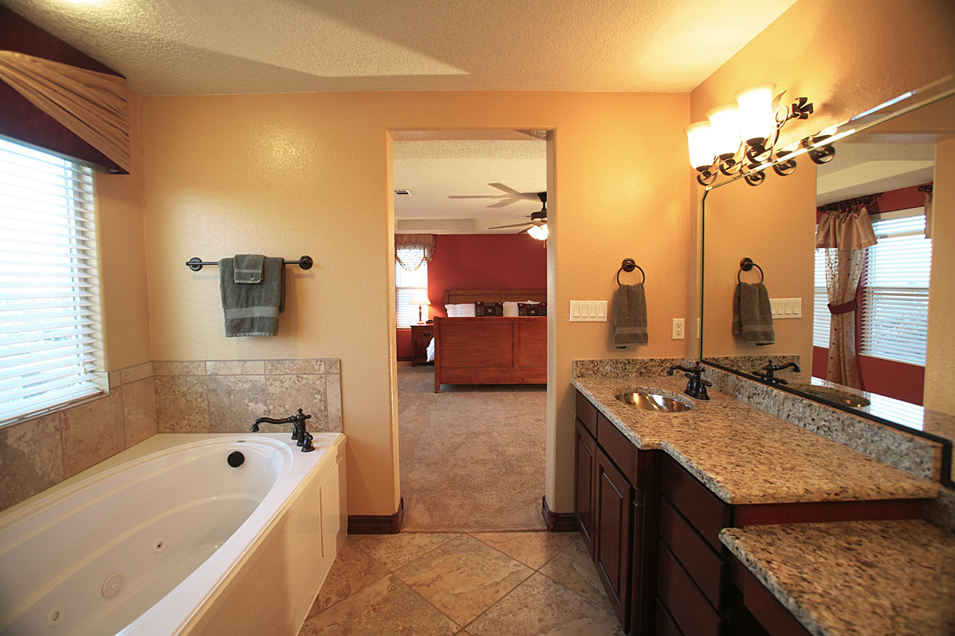 8401 mesa top nw kb model home with the brilliance of the for Model bathrooms photos